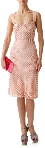 Marios Schwab Lace Halter Dress in Pink - Lyst