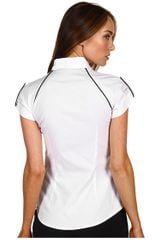 Mcq By Alexander Mcqueen Tie Neck Piped Shirt in White (o) - Lyst