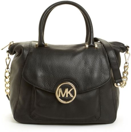 michael kors fulton satchel in black lyst. Black Bedroom Furniture Sets. Home Design Ideas