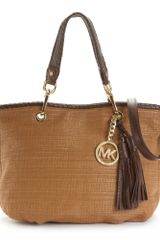 Michael Kors Bennet Medium Tote in Brown (luggage/mocha) - Lyst