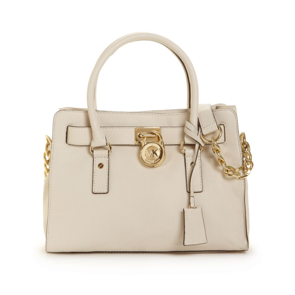 33deb7548cfd3 ... cheapest lyst michael kors hamilton gold hardware east west satchel in  natural a9170 68d90
