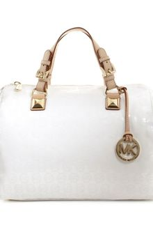 Michael Kors Jet Set Monogram Grayson Satchel - Lyst