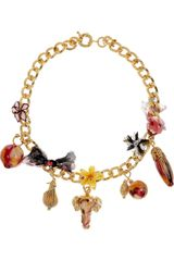 Missoni Enamel and Chiffon Charm Necklace - Lyst
