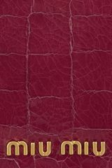 Miu Miu Croceffect Glossedleather Passport Holder in Purple (cherry) - Lyst