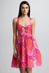 Nanette Lepore Palm Beach Floralprint Dress Coverup in Red (coral) - Lyst
