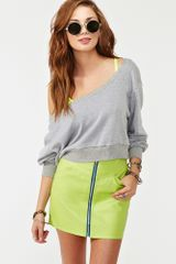 Nasty Gal Zipped Moto Skirt - Lyst