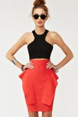 Nasty Gal Perfect Peplum Skirt in Red (poppy) - Lyst