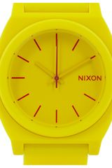 Nixon Time Teller Rubber Watch in Yellow (lemon) - Lyst