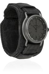 Nixon The Axe Leather and Stainless Steel Watch - Lyst