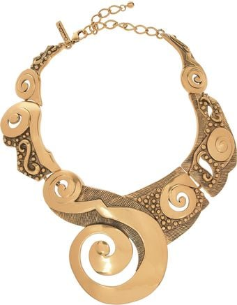 Oscar de la Renta 22karat Goldplated Collar Necklace - Lyst
