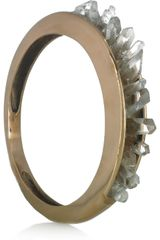 Pamela Love Bronze and Quartz Crystal Bangle in Gold (bronze) - Lyst