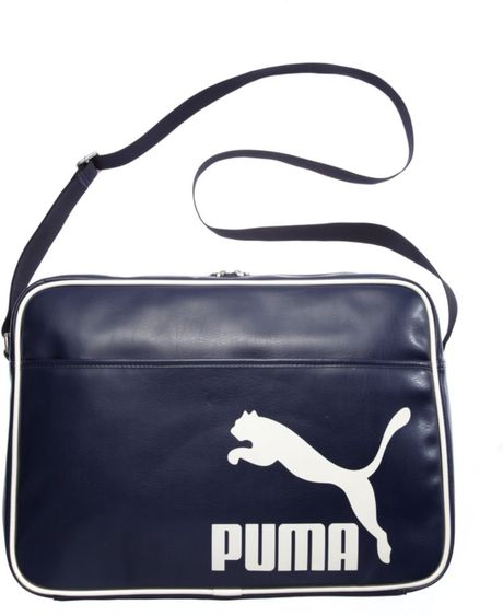 Puma Heritage Reporter Messenger Bag In Blue Navy Lyst