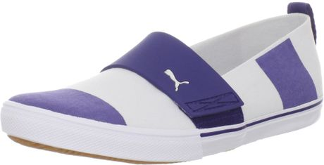 Puma  El Rey Stripes Loafer in Blue (white/navy blue) - Lyst