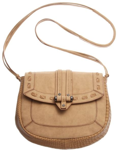 Rachel Roy Medium Flap Crossbody in Beige (almond) - Lyst