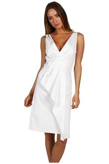 Rachel Roy Stretch Cotton Wrap Drape Dress - Lyst