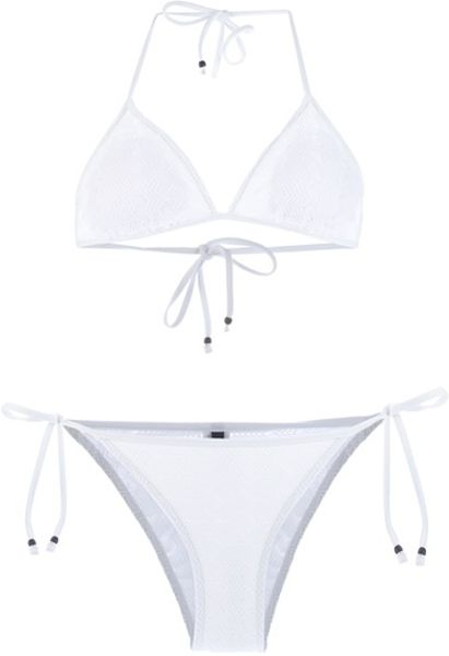 Ralph Lauren Blue Label Bikini in White - Lyst