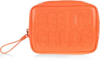 See By Chloé Zip File Patent Cosmetics Case - Lyst