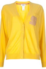 Sonia By Sonia Rykiel Loose Fit Cardigan in Yellow - Lyst