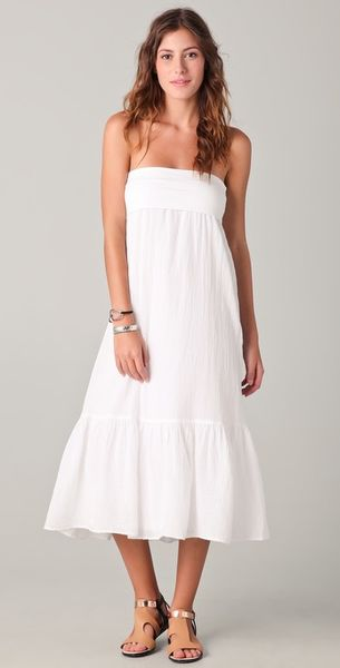 splendid gauze maxi skirt dress in white lyst