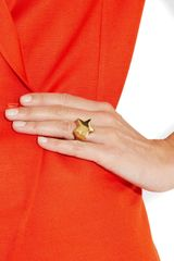 Stella Mccartney Polished Goldtone Star Ring in Gold - Lyst