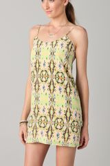 Tibi Layla Ikat Printed Slip Dress in Multicolor - Lyst