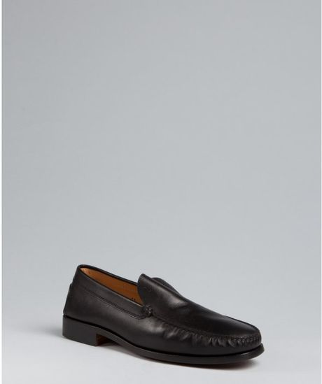 Tod's Black Leather Fondo Loafers in Black for Men - Lyst