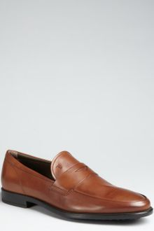 Tod's Tobacco Leather Penny Loafers - Lyst