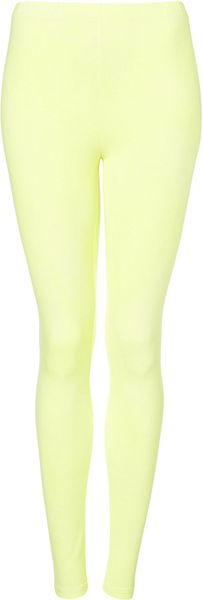 Topshop Washed Fluro Leggings in Yellow (fluro yellow) - Lyst
