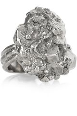 Yves Saint Laurent Arty Too Silverplated Ring - Lyst