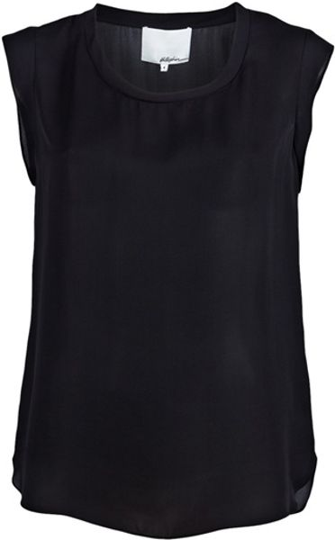 3.1 Phillip Lim Muscle Tshirt in Black - Lyst