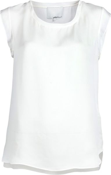 3.1 Phillip Lim Muscle Tshirt in White - Lyst