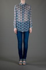 Acne Frequencyprint Patti Shirt in Blue - Lyst
