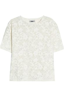 Acne Wonder Lace Effect Jersey T-shirt - Lyst
