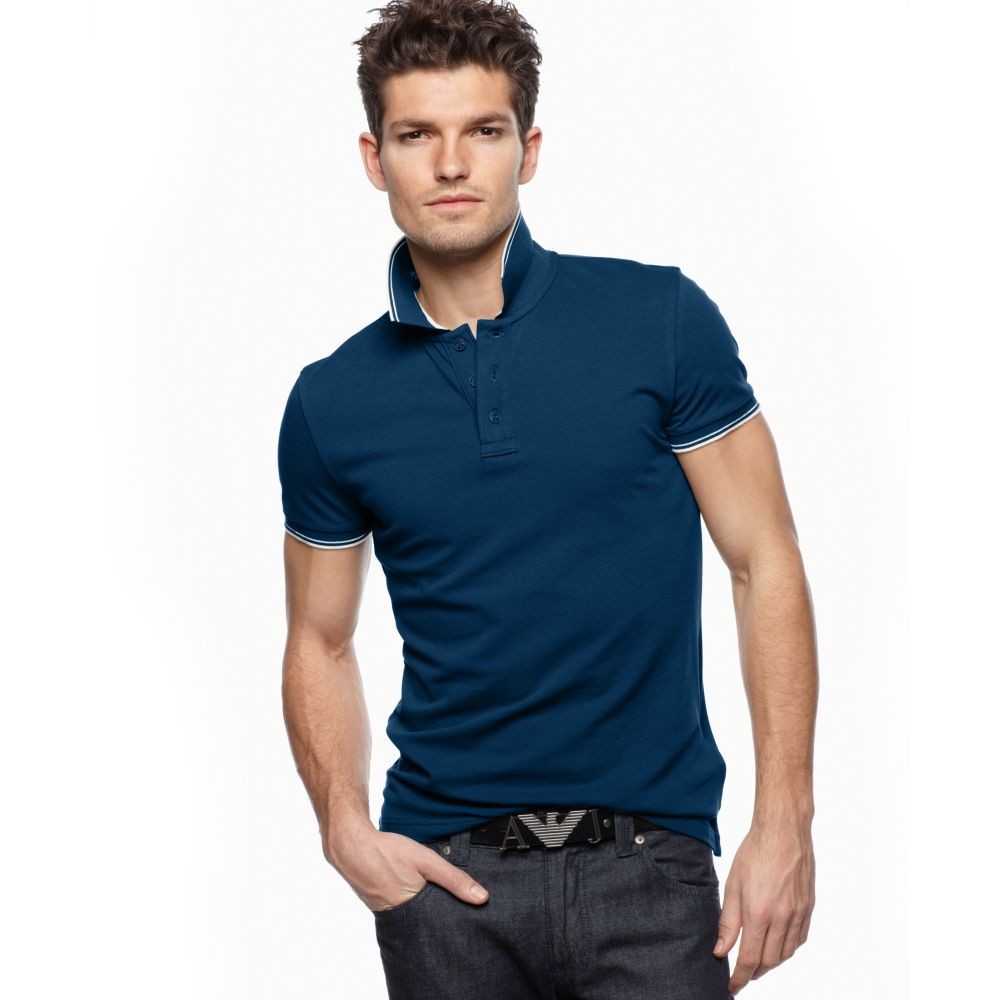 Armani jeans men s cotton t shirt aj top polo t shirts for Polo shirt and jeans