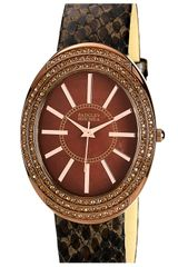 Badgley Mischka Embossed Leather Strap Watch - Lyst