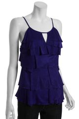 Bcbgmaxazria Regal Tiered Ruffle Layered Top in Purple - Lyst