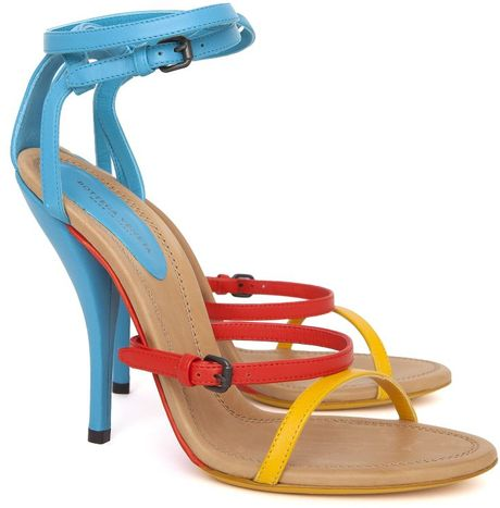 Bottega Veneta Multi Strap Runway Sandals in Multicolor (multi) - Lyst