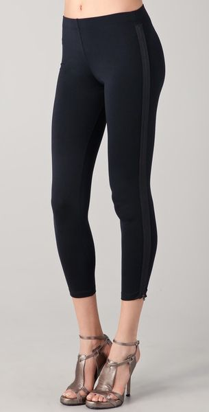 David Lerner Zipper Tuxedo Leggings in Black - Lyst