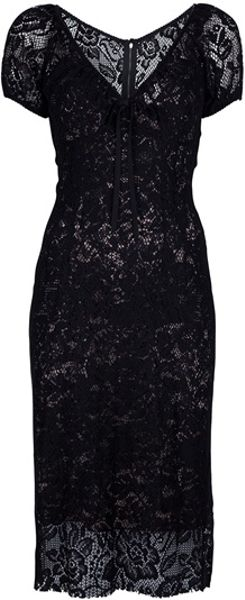 Dolce & Gabbana Crochet Dress - Lyst