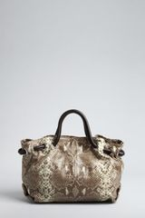 Furla Roccia Snake Embossed Leather Carmen Medium Tote in Animal (roccia) - Lyst