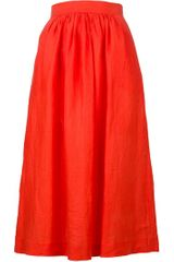Giorgio Armani Vintage A Line Skirt in Orange - Lyst