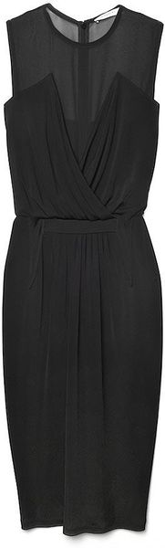 Givenchy Sheershoulder Dress in Black - Lyst