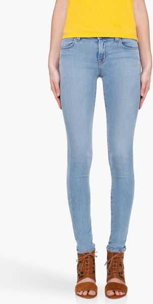 J Brand Soft Blue Tencel Jeans in Blue - Lyst