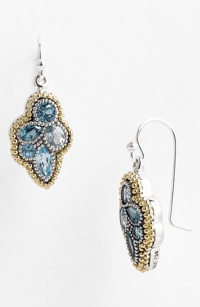 Lagos Ombré Drop Earrings in Blue (gold/ blue topaz) - Lyst