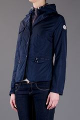 Moncler Buttoned Front Jacket in Blue (navy) - Lyst