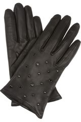 Mulberry Gems Studded Leather Gloves - Lyst