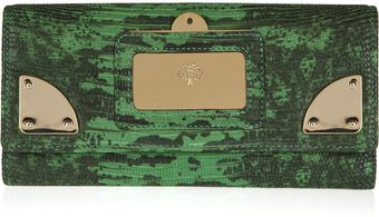 Mulberry Travel Continental Lizard Effect Leather Wallet - Lyst