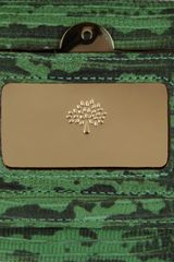 Mulberry Travel Continental Lizard Effect Leather Wallet in Animal (grass) - Lyst