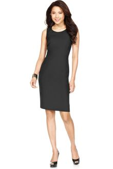Nine West Sleeveless Scoop Neck Sheath - Lyst