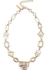 Oscar de la Renta 24karat Gold-plated Geometric Link Necklace - Lyst
